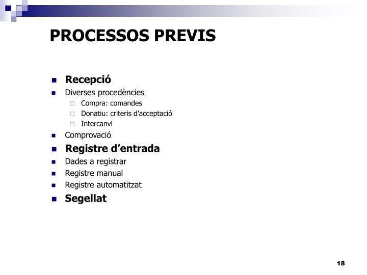 PROCESSOS PREVIS
