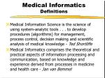 medical informatics definitions