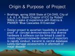 origin purpose of project