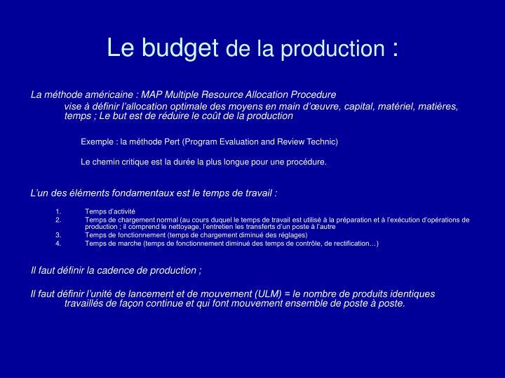 Le budget
