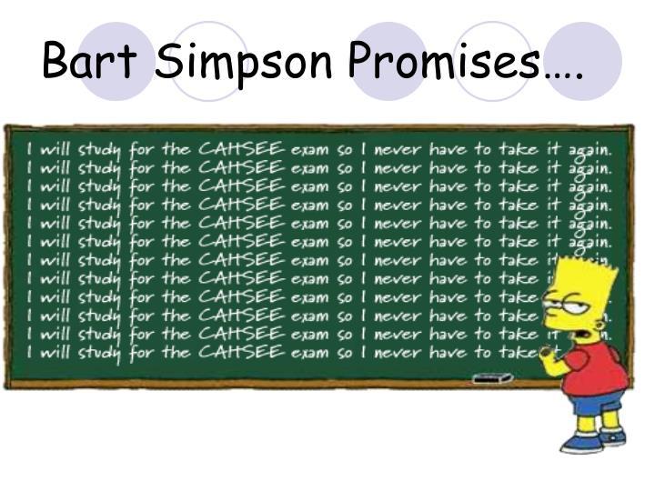 Bart simpson promises