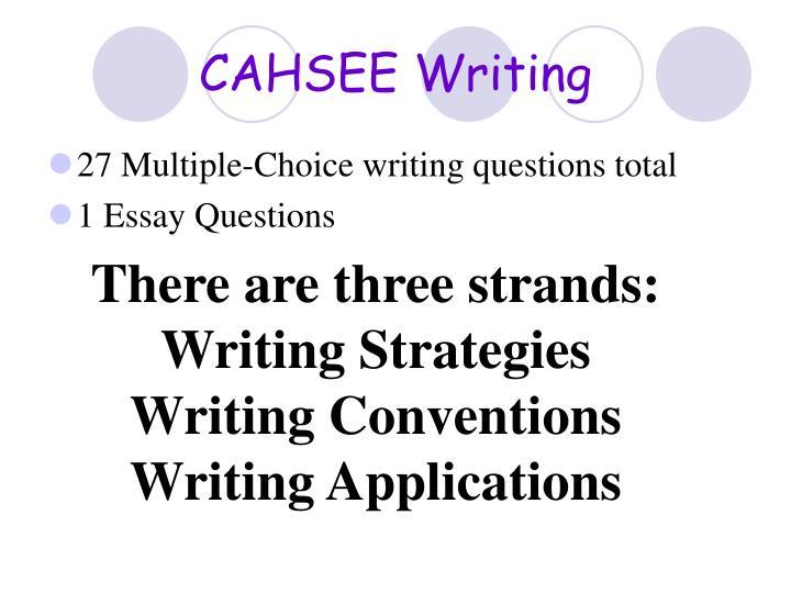 CAHSEE Writing