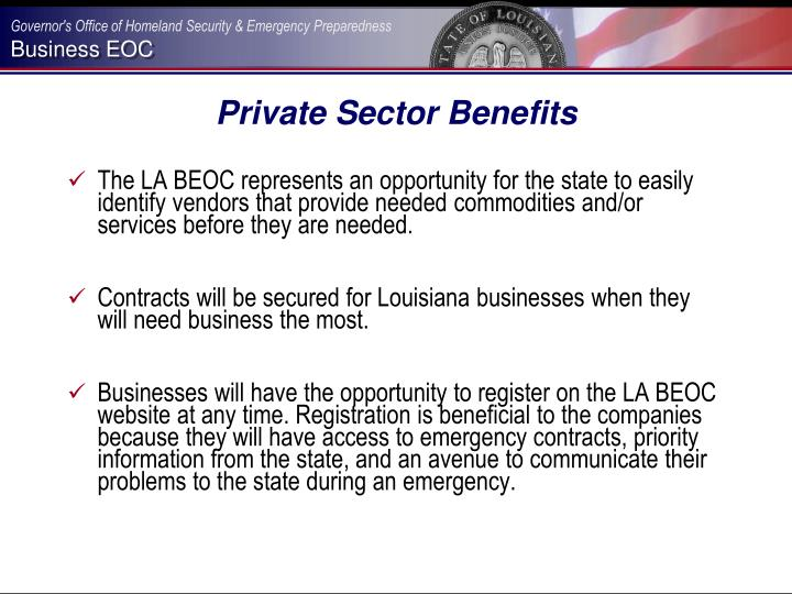 Private Sector Benefits