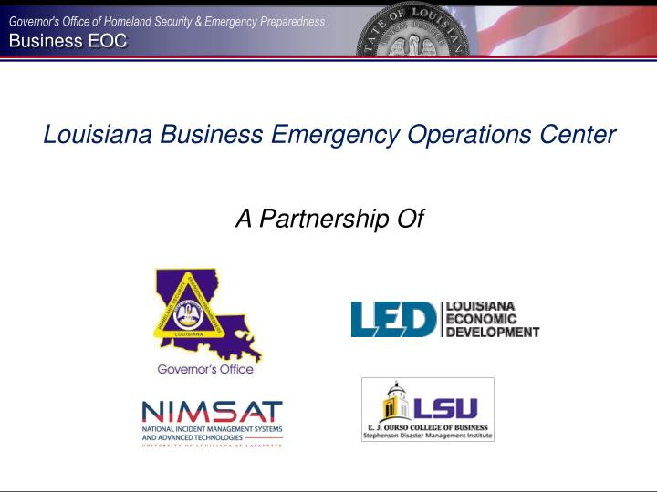 Louisiana Business Emergency Operations Center