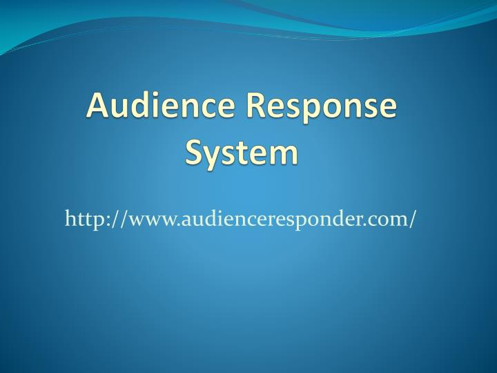audience response system n.