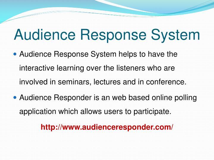 Audience response system1