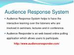 audience response system1