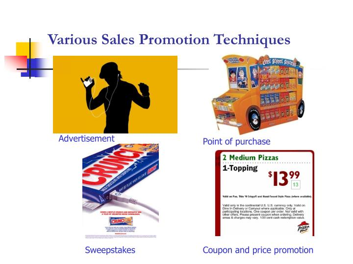 Various Sales Promotion Techniques