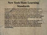 new york state learning standards
