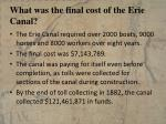 what was the final cost of the erie canal