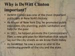 why is dewitt clinton important