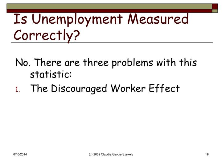 Is Unemployment Measured Correctly?