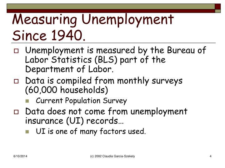 Measuring Unemployment Since 1940.