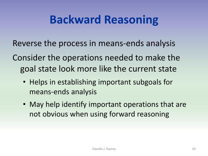 Backward Reasoning