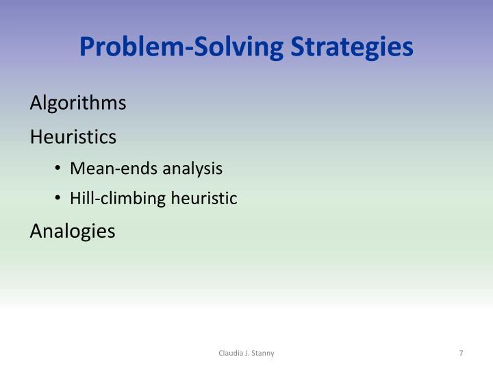 Problem-Solving Strategies