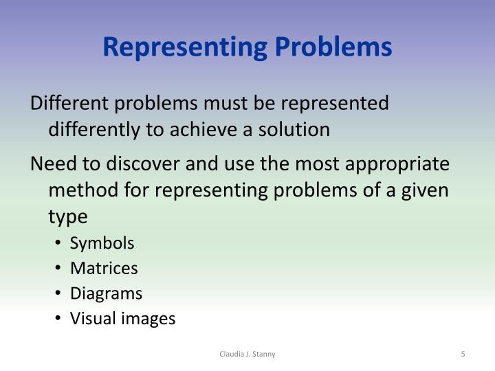 Representing Problems