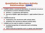 quantitative structure activity relationships qsar