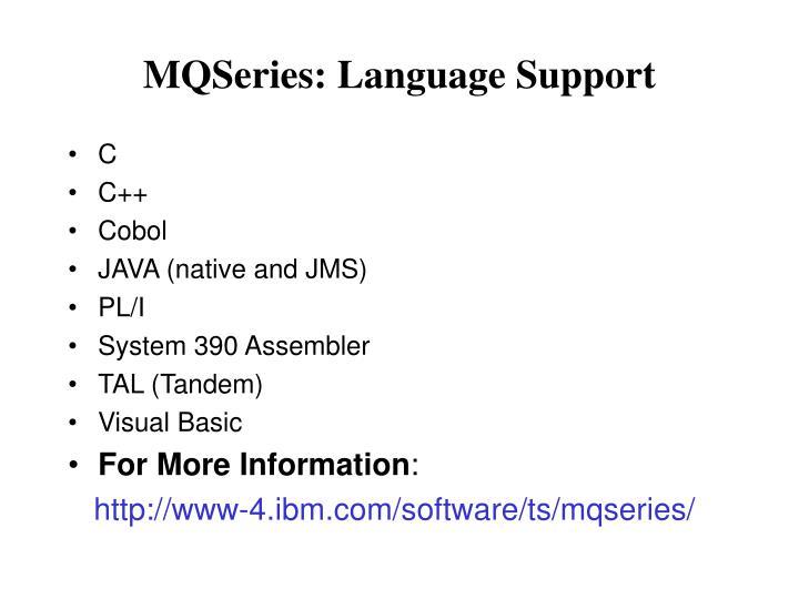 MQSeries: Language Support
