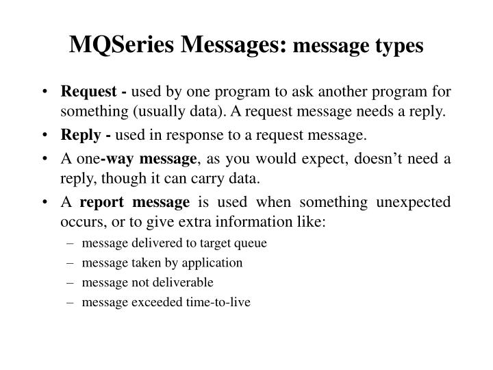 MQSeries Messages: