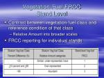 vegetation fuel frcc stand level