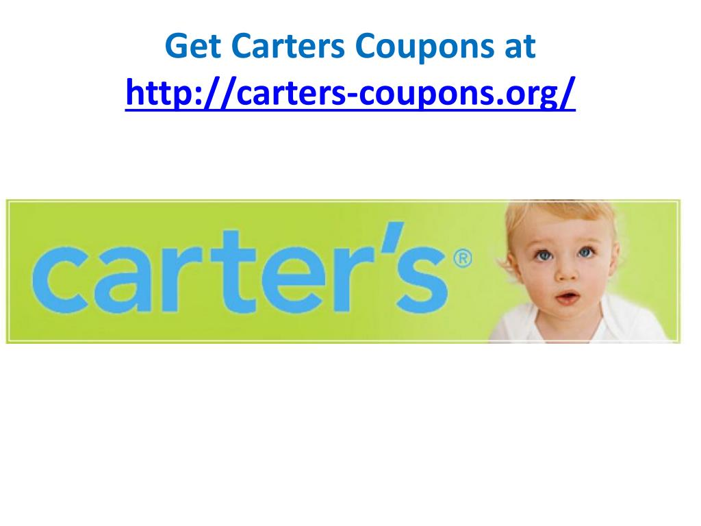 Get Carters Coupons at