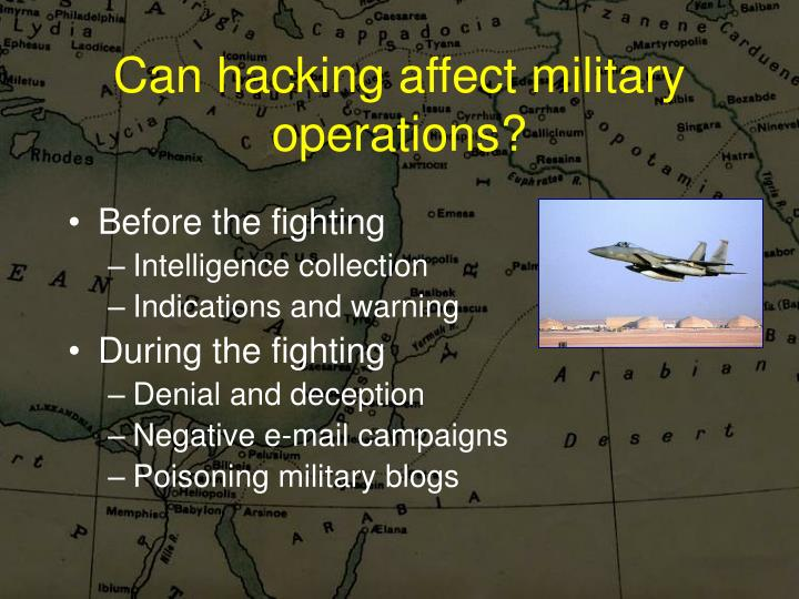 Can hacking affect military operations?
