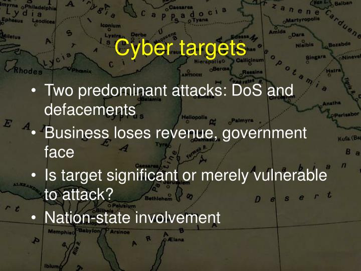 Cyber targets