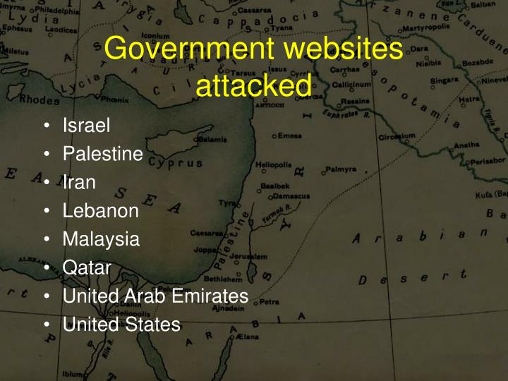 Government websites attacked