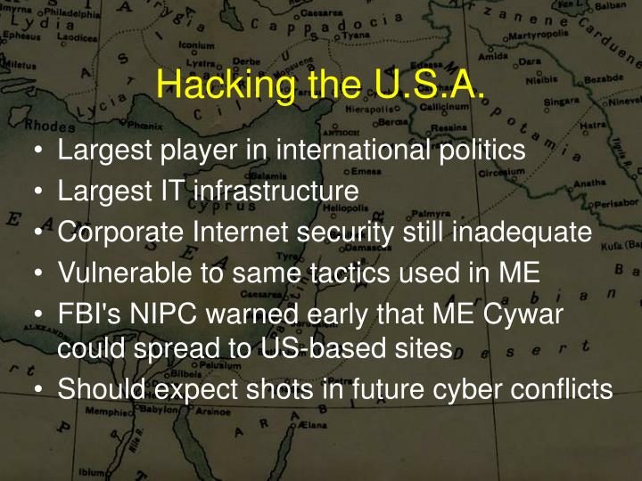Hacking the U.S.A.