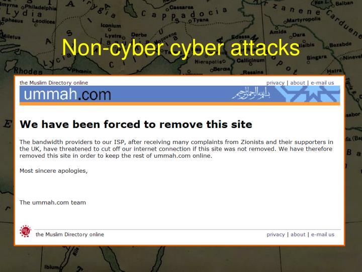 Non-cyber cyber attacks