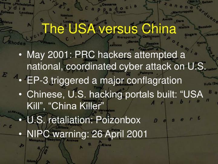 The USA versus China