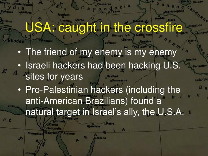 USA: caught in the crossfire