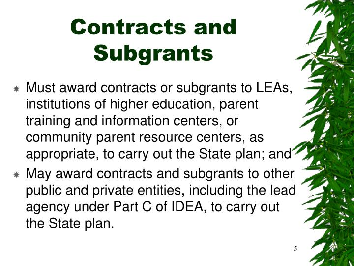 Contracts and Subgrants