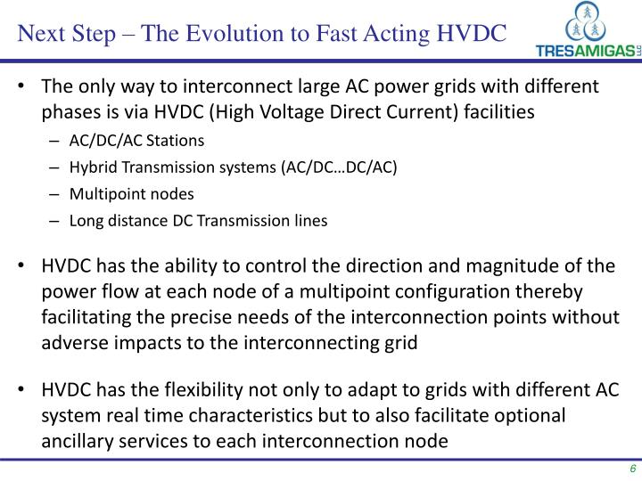 Next Step – The Evolution to Fast Acting HVDC