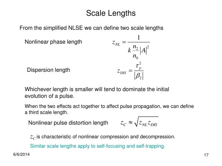 Scale Lengths