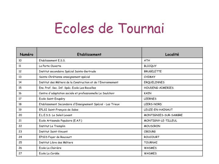 Ecoles de Tournai