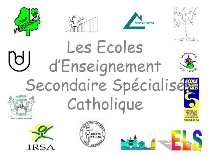 Les Ecoles d'Enseignement Secondaire Spécialisé Catholique
