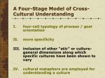 a four stage model of cross cultural understanding2