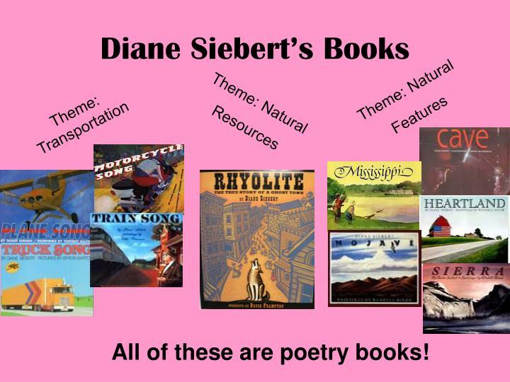 Diane Siebert's Books