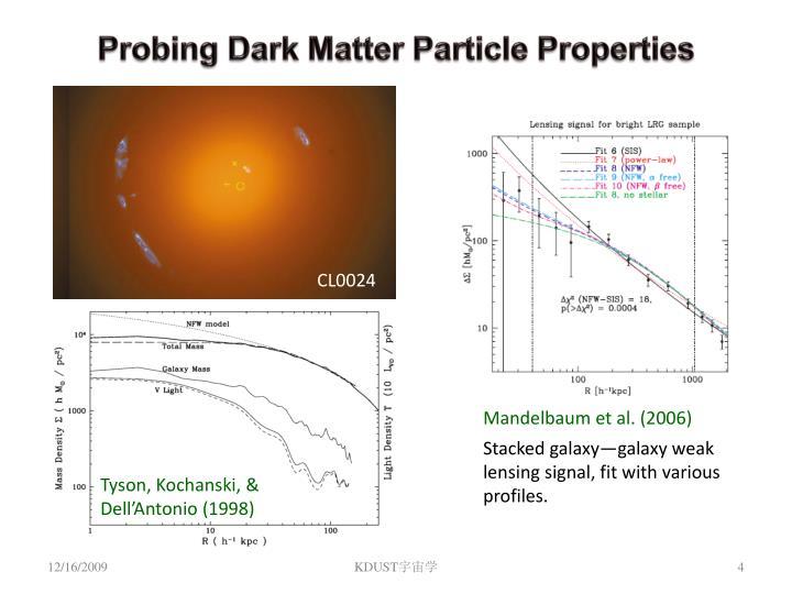 Probing Dark Matter Particle Properties