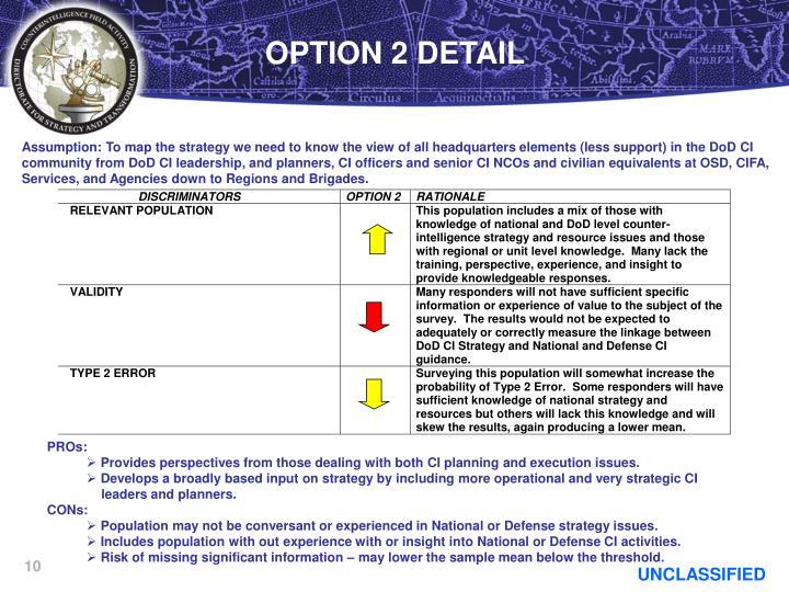 OPTION 2 DETAIL