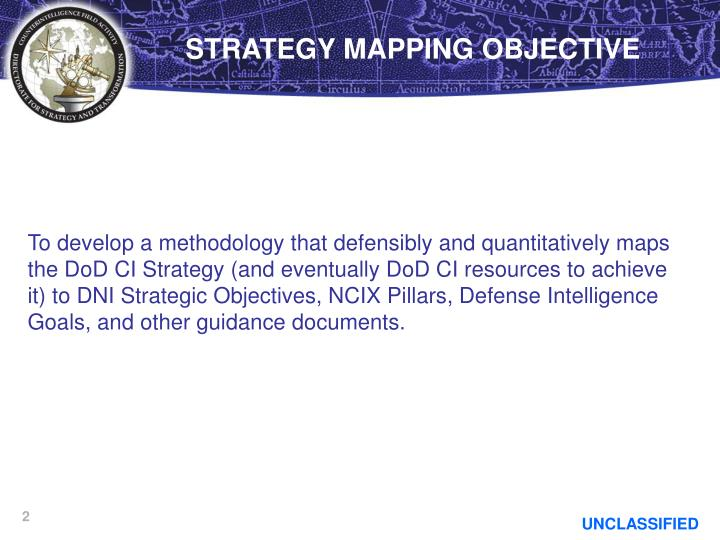 STRATEGY MAPPING OBJECTIVE
