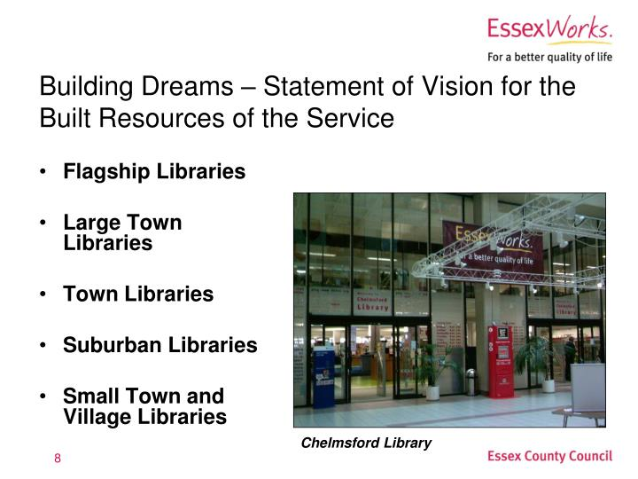 Building Dreams – Statement of Vision for the Built Resources of the Service