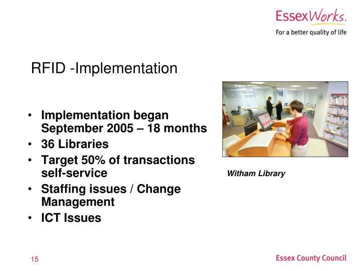 RFID -Implementation