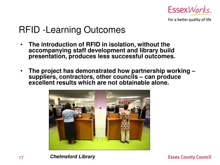 RFID -Learning Outcomes