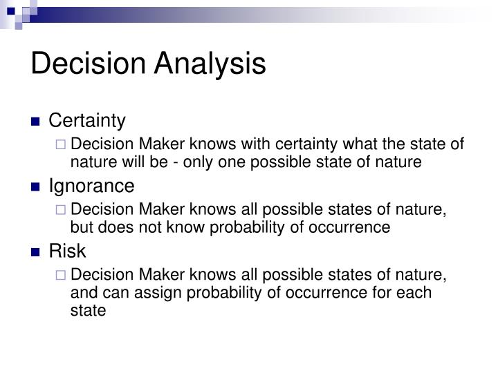 Decision analysis1