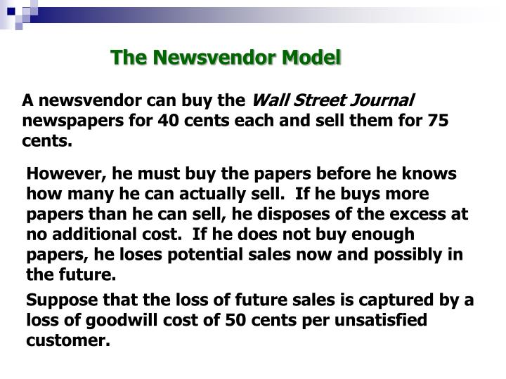 The Newsvendor Model