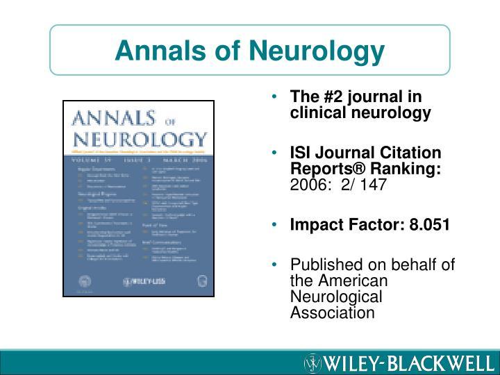Annals of Neurology