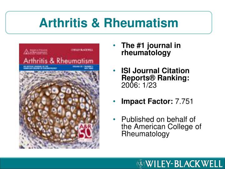 Arthritis & Rheumatism