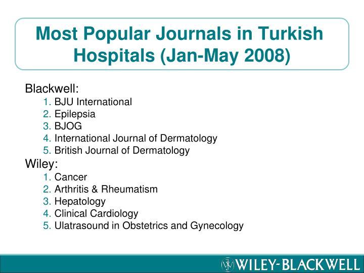 Most Popular Journals in Turkish
